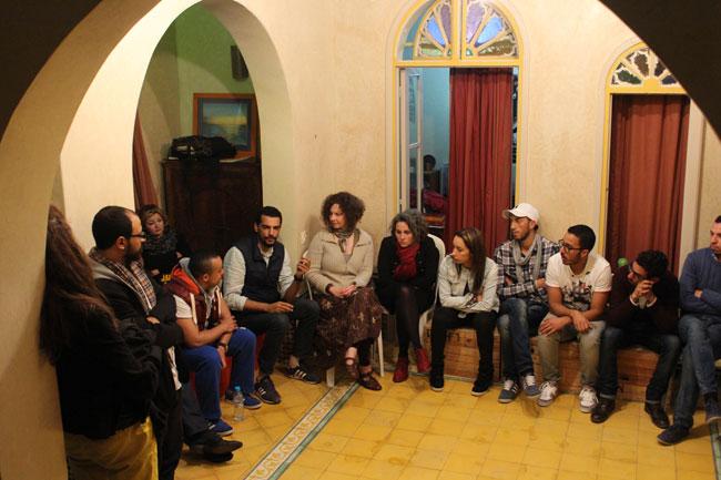 Gastspielreise Marokko: Diskussion suite42 + dabateatr (Photo: suite42)