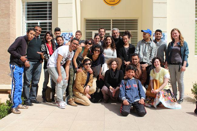 Gastspielreise Marokko: suite42 + Workshopgruppe in Sefrou (Photo: suite42)